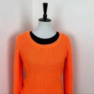 Rue21 | Neon Orange Long Knit Halloween Sweater